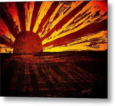 Fire In The Sky Metal Print by Brenda Bryant