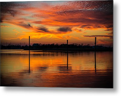 Fire In The Sky Metal Print by Kristopher Schoenleber