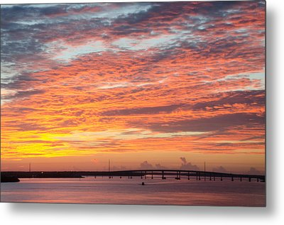 Fire In The Sky Metal Print by Margaret Pitcher
