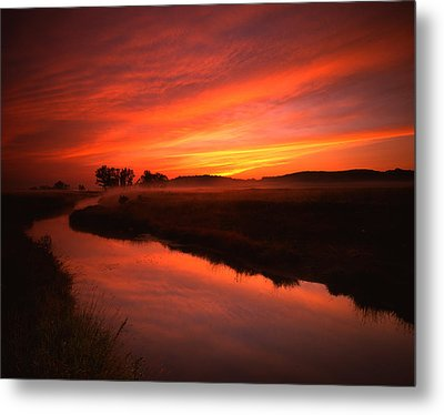 Fire In The Sky Metal Print by Ray Mathis