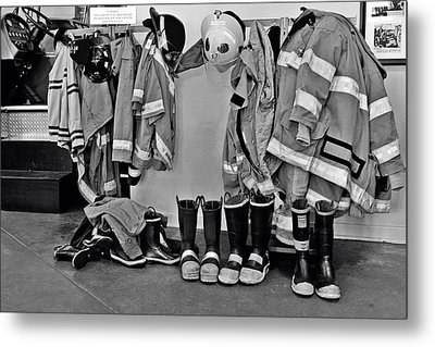 Fire Museum Beaumont Tx Metal Print by Christine Till