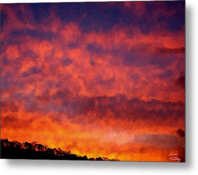 Fire On The Hillside Metal Print by Bruce Nutting