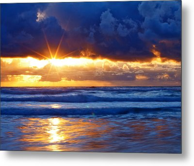 Fire On The Horizon Metal Print by Darren  White