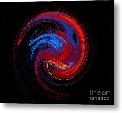 Fire Sphere Metal Print by Andee Design