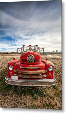 Fire Truck Metal Print by Peter Tellone