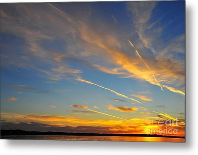 Firecracker Sunset 3 Metal Print by Terri Gostola
