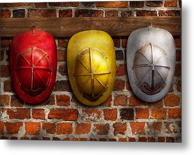 Fireman - Hats - Pick A Hat Any Hat  Metal Print by Mike Savad
