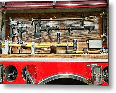 Fireman - Life Saving Tools Metal Print by Paul Ward
