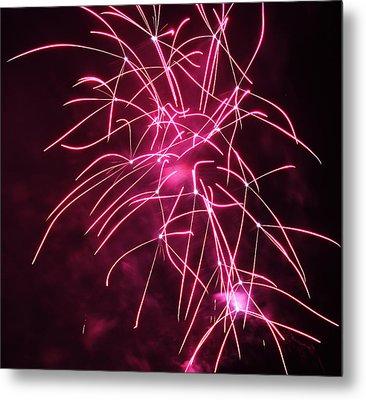 Rockets Red Glare Fireworks Metal Print by Howard Tenke