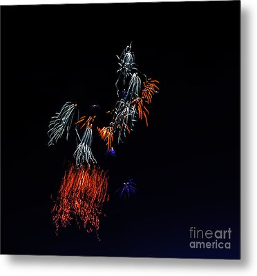 Fireworks Abstract Metal Print by Robert Bales