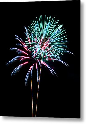 Fireworks Metal Print by Darrin Doss