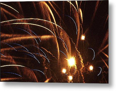 Fireworks In The Wind Metal Print by Anthony Dalton
