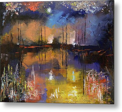 Fireworks Metal Print by Michael Creese