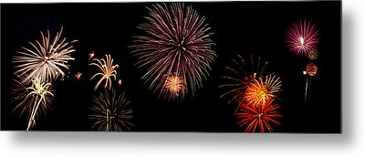 Fireworks Panorama Metal Print by Bill Cannon