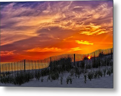First Light At Cape Cod Beach  Metal Print by Susan Candelario