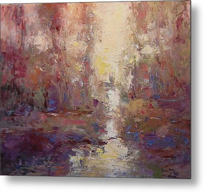 First Light On The Tule River Metal Print by R W Goetting