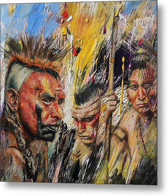 First Nations 15 Metal Print by Corporate Art Task Force