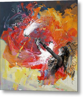 First Nations 18b Metal Print by Corporate Art Task Force