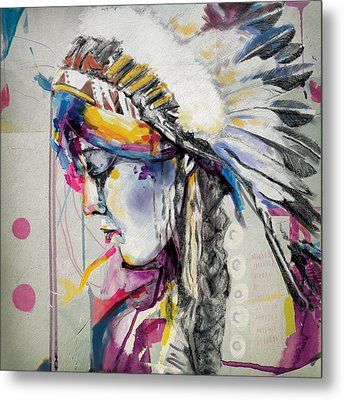 First Nations 7 Metal Print by Corporate Art Task Force