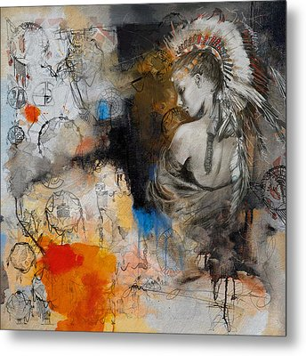 First Nations 8 Metal Print by Corporate Art Task Force