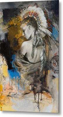 First Nations 8b Metal Print by Corporate Art Task Force