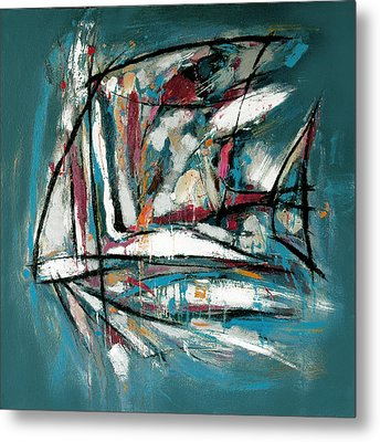 Fish Morden Art Painting - 4 Metal Print by Kim Wang