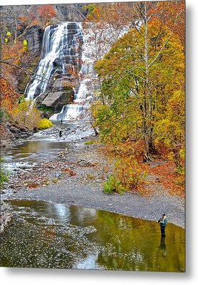 Fisherman One With Nature Metal Print by Frozen in Time Fine Art Photography
