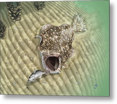 Fisherman's Post Flounder Metal Print by Hayden Hammond