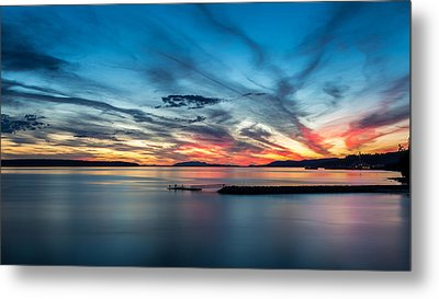 Fishing At Dusk Metal Print by Pierre Leclerc Photography