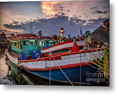 Fishing Boat Metal Print by Adrian Evans