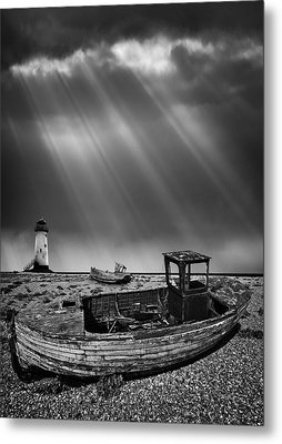 Fishing Boat Graveyard 11 Metal Print by Meirion Matthias