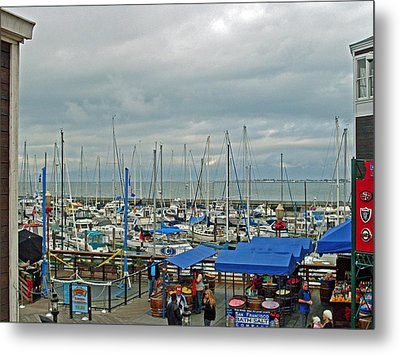 Fishing Boats Metal Print by Mike Podhorzer