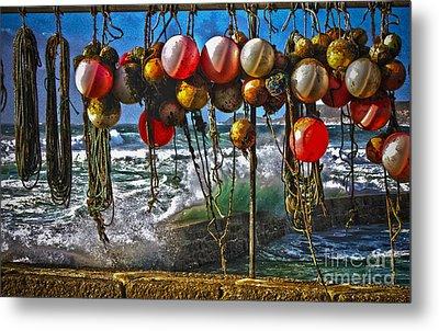 Fishing Buoys Metal Print by Terri Waters