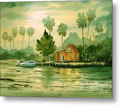 Fishing Cabin - Aucilla River Metal Print by Bill Holkham