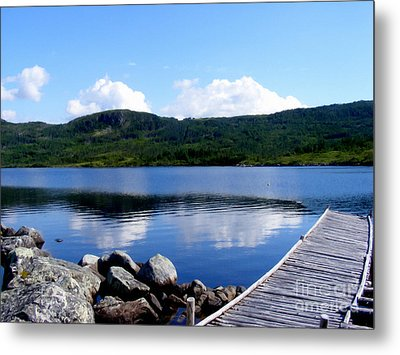 Fishing Day - Calm Waters - Digital Painting Metal Print by Barbara Griffin