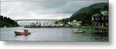 Fishing Fleets At The Coast, Kodiak Metal Print by Panoramic Images