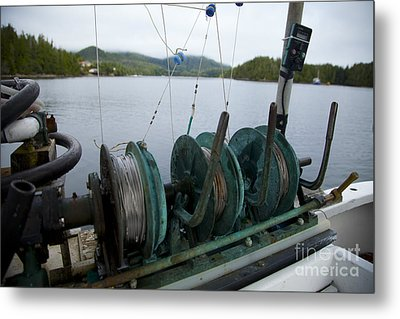 Fishing Metal Print by Graham Foulkes