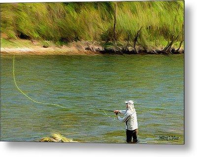 Fishing Lake Taneycomo Metal Print by Jeff Kolker