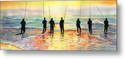 Fishing Line Metal Print by Marguerite Chadwick-Juner