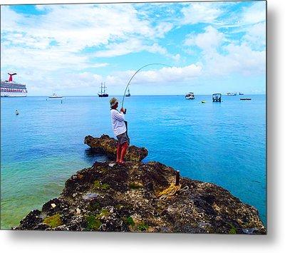 Fishing Paradise Metal Print by Carey Chen