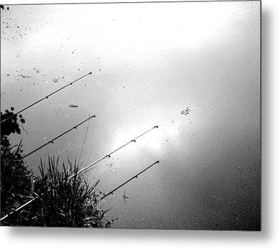 Fishing Poles Metal Print by Mike McCool