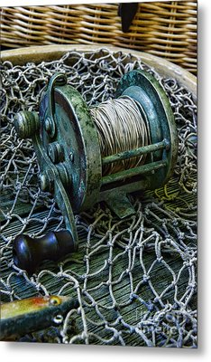 Fishing - That Old Fishing Reel Metal Print by Paul Ward