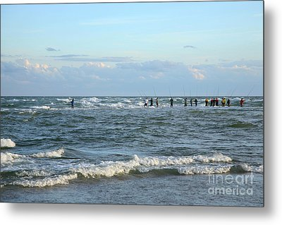 Fishing The Point At Cape Hatteras Metal Print by Suzi Nelson