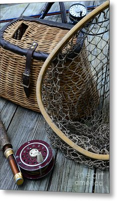 Fishing - Trout Fishing Metal Print by Paul Ward