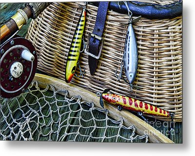 Fishing - Vintage Fishing Lures  Metal Print by Paul Ward