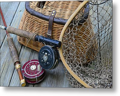 Fishing - Vintage Fishing  Metal Print by Paul Ward