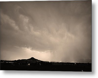 Fist Bump Of Power Sepia Metal Print by James BO  Insogna