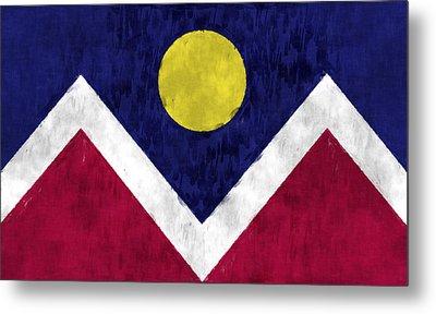 Flag Of Denver Metal Print by World Art Prints And Designs