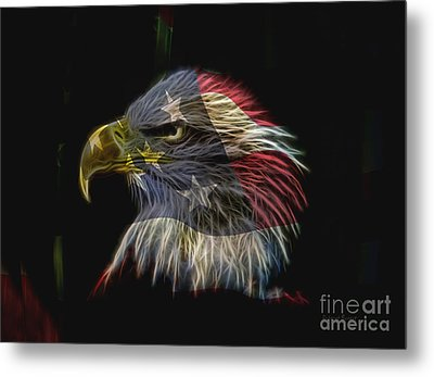 Flag Of Honor Metal Print by Deborah Benoit