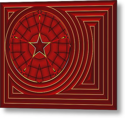 Flagged Metal Print by Wendy J St Christopher
